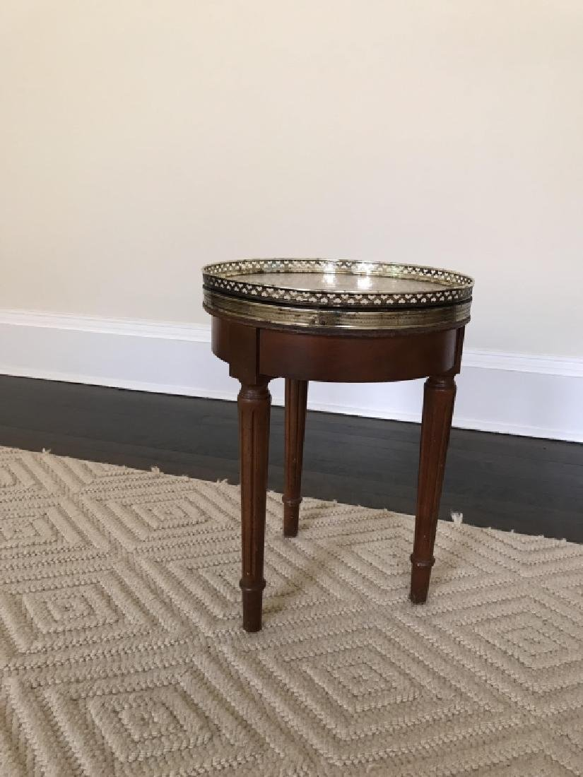 Louis XVI Style Small Side End Table W Marble Top - 3