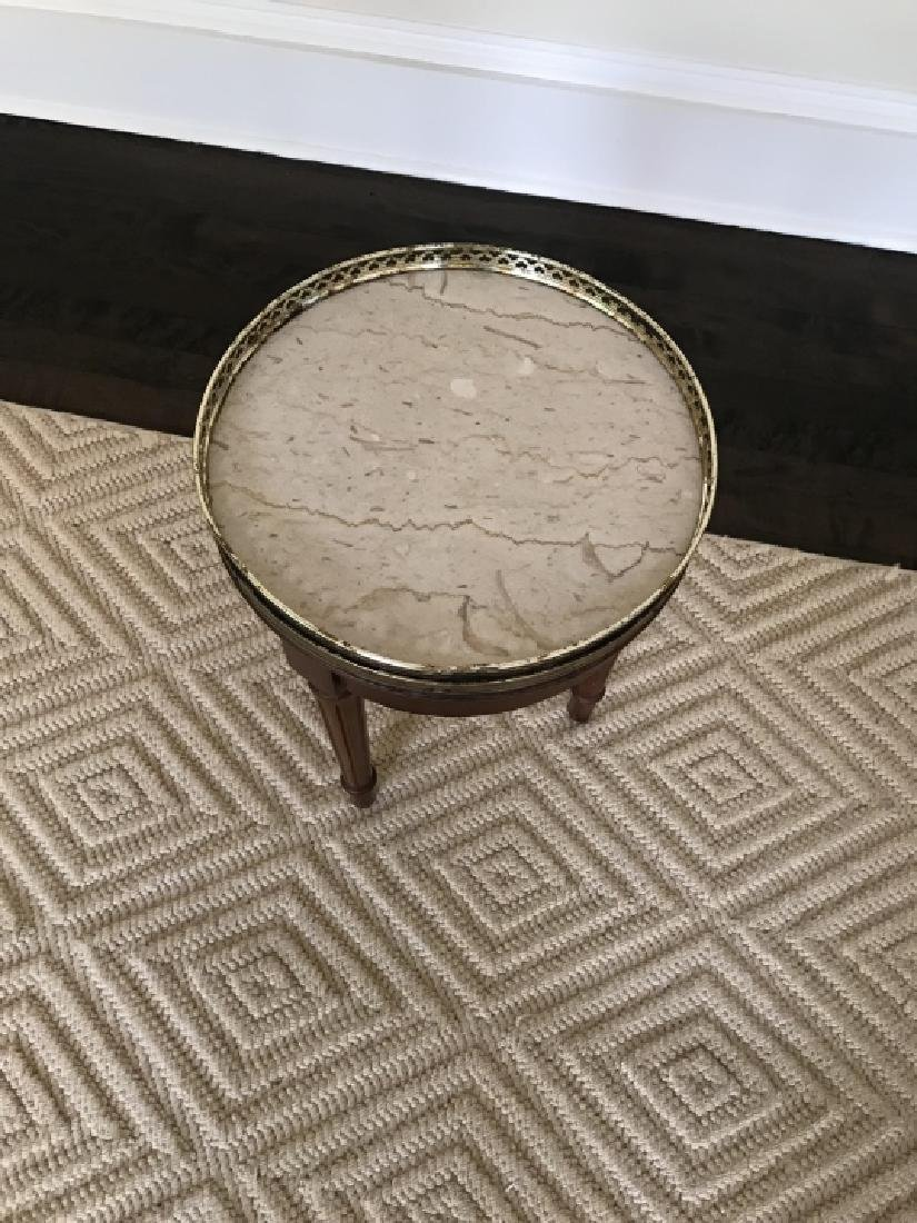 Louis XVI Style Small Side End Table W Marble Top - 4