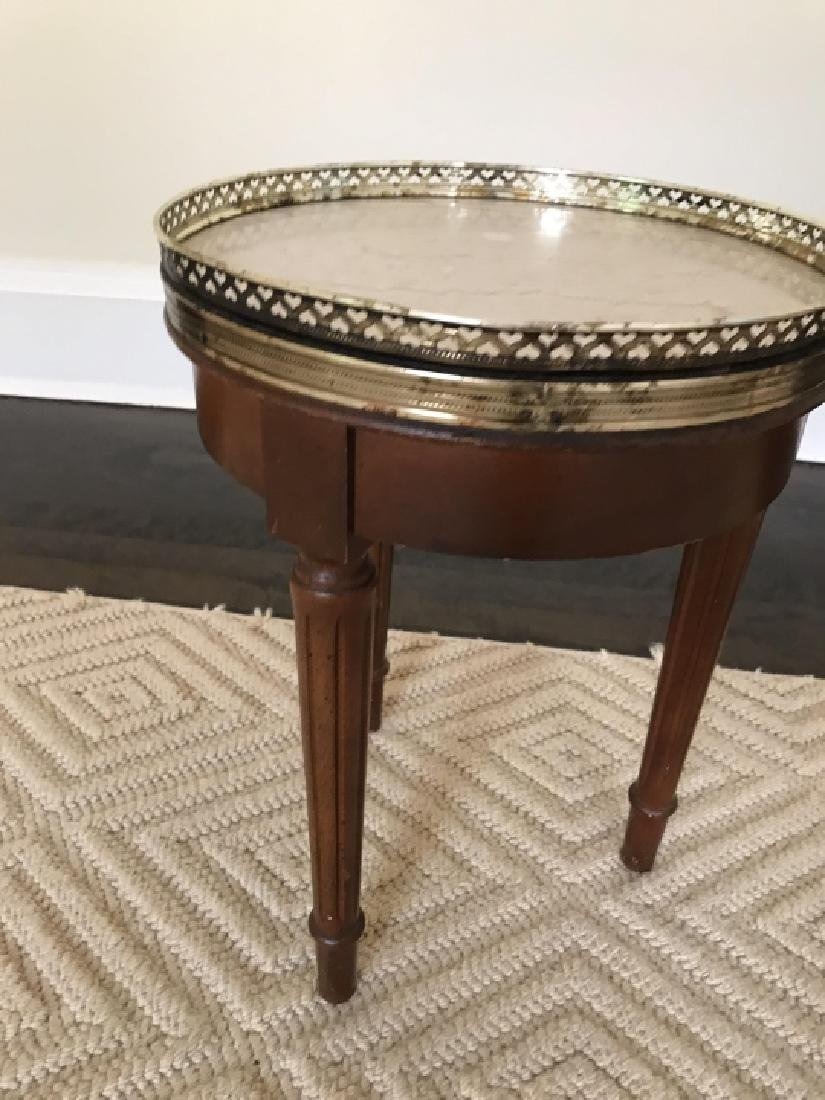 Louis XVI Style Small Side End Table W Marble Top - 5