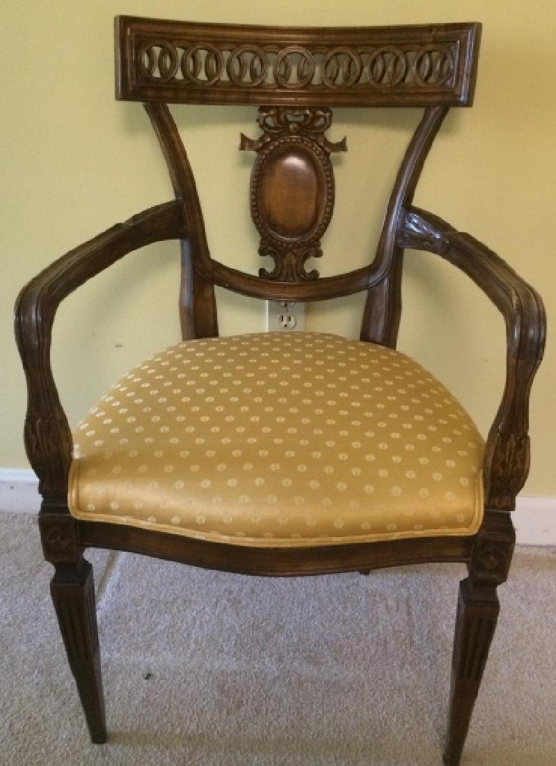 Empire Style Carved Mahogany Side Chair