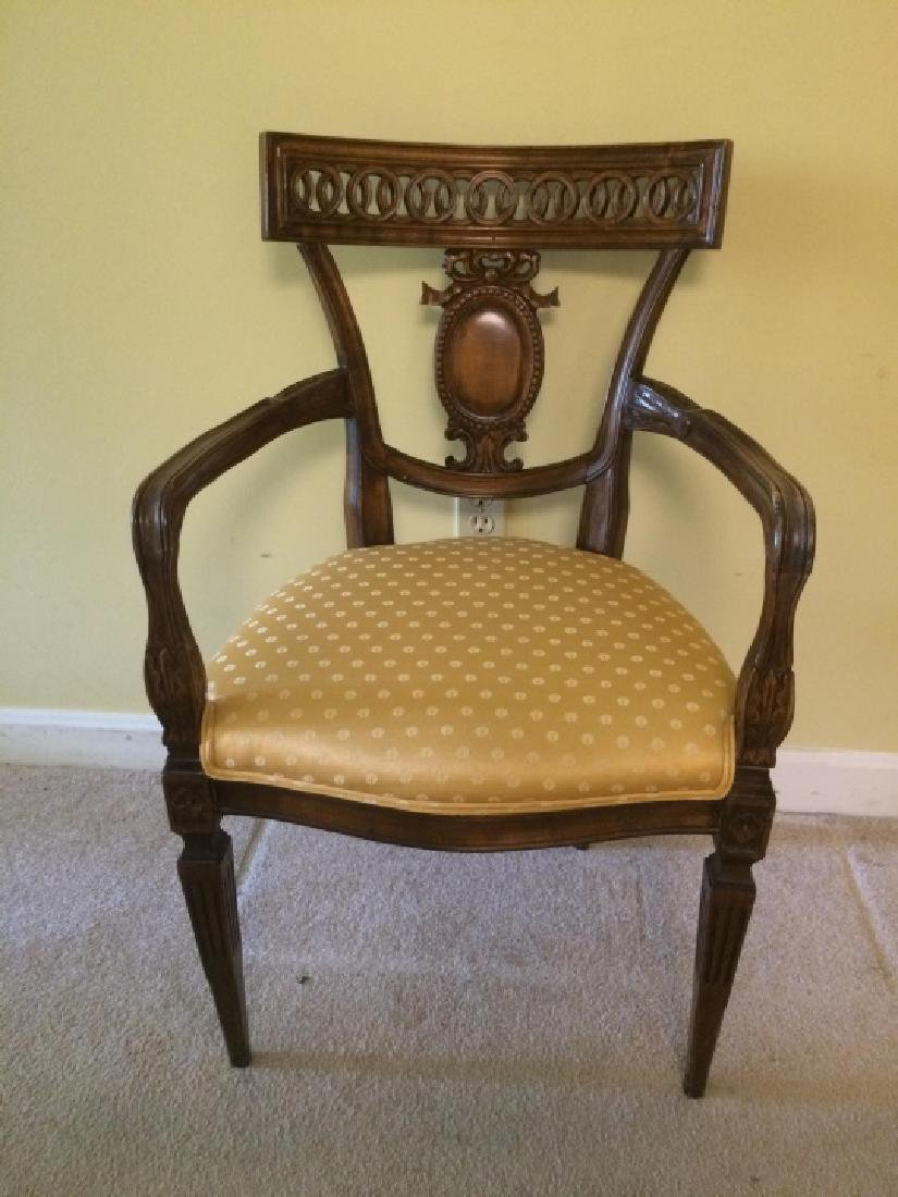 Empire Style Carved Mahogany Side Chair - 3