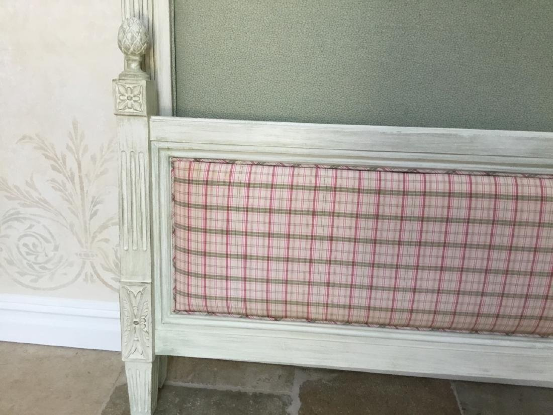 French Provincial Style Full Size Head Foot Board - 6