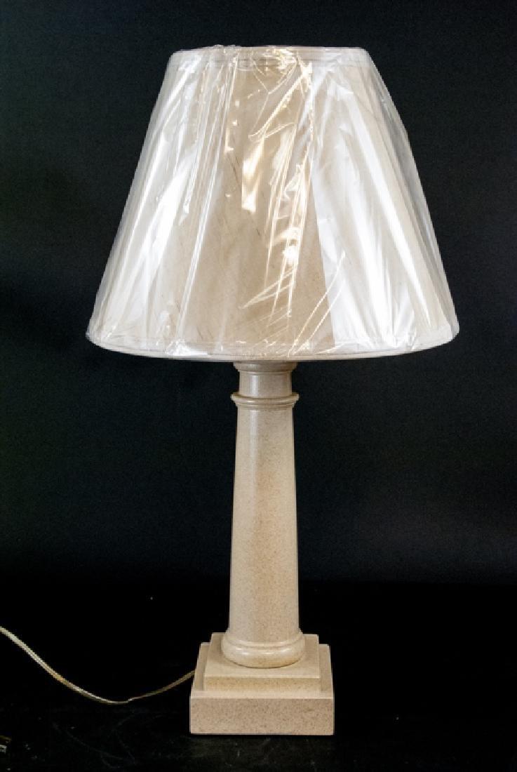 Wood Column Form Lamp and Shade