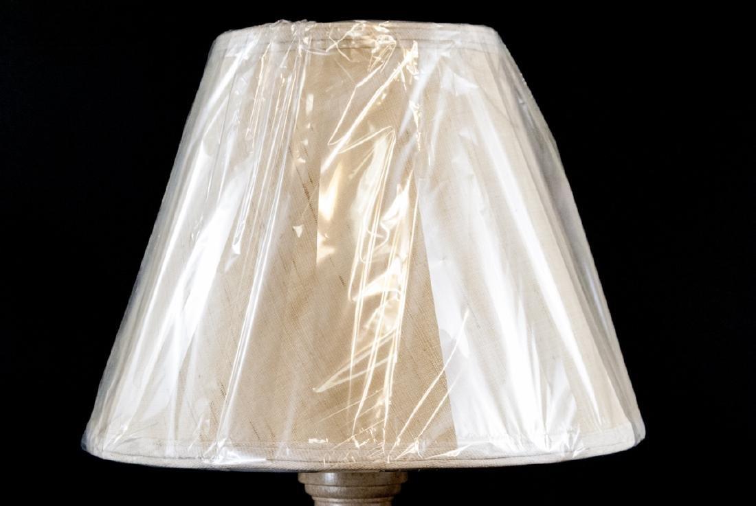Wood Column Form Lamp and Shade - 2