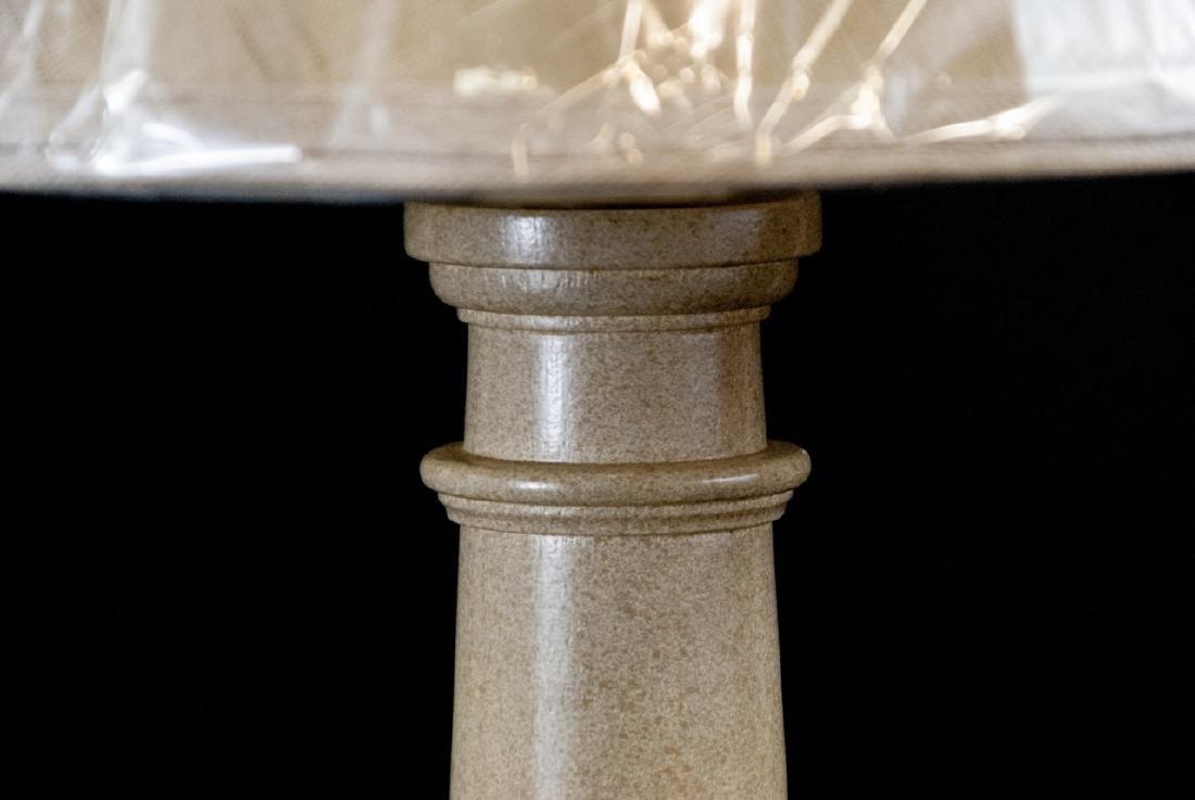 Wood Column Form Lamp and Shade - 3