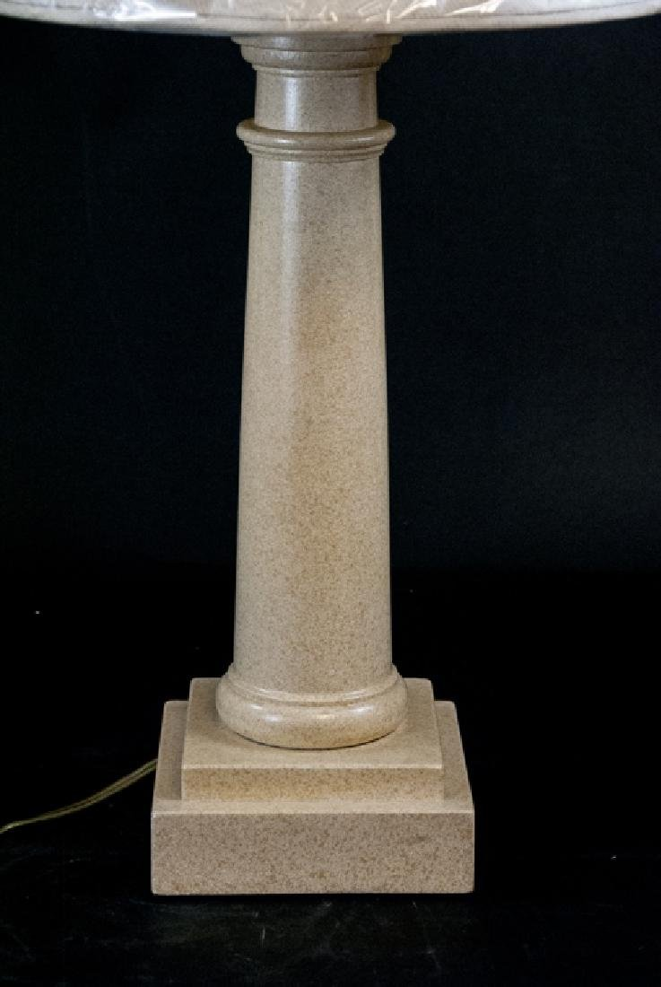 Wood Column Form Lamp and Shade - 5