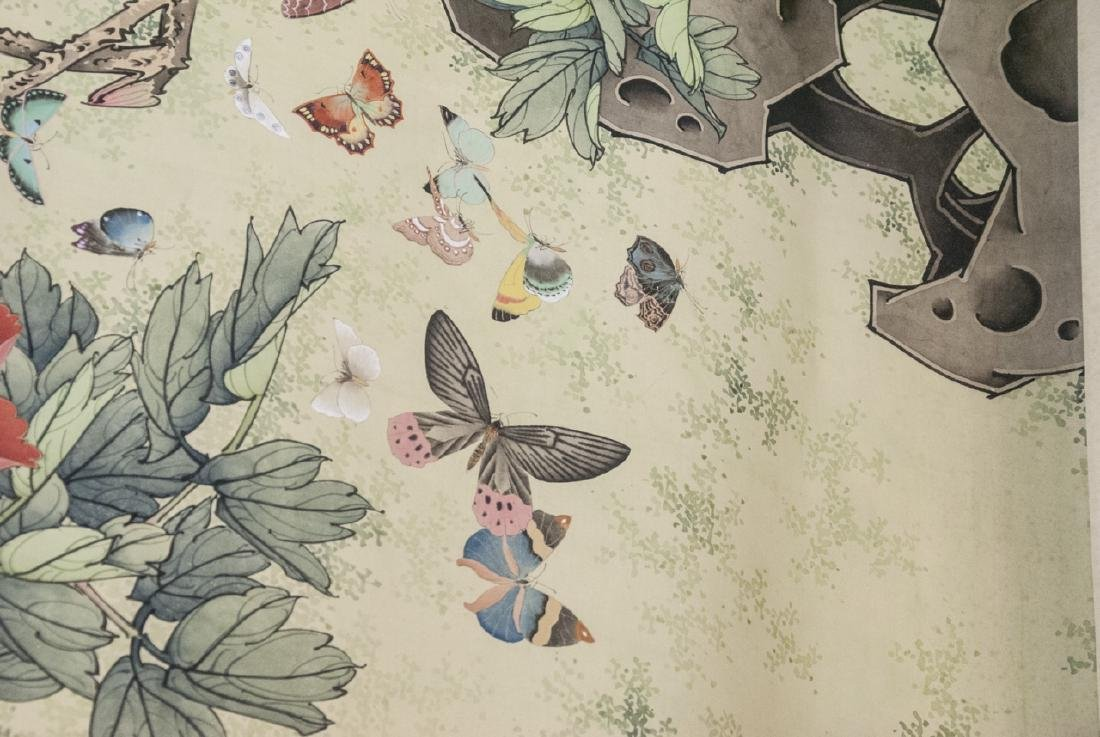 Chinese Watercolor Ink Scroll Painting Butterflies - 6