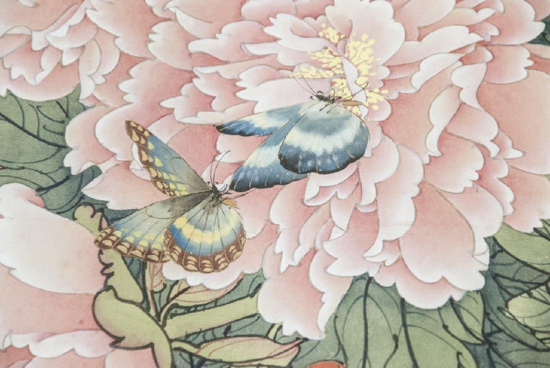 Chinese Watercolor Ink Scroll Painting Butterflies - 7