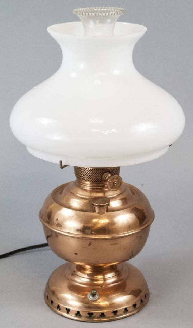 Miller Vestal Copper Converted Oil Lamp