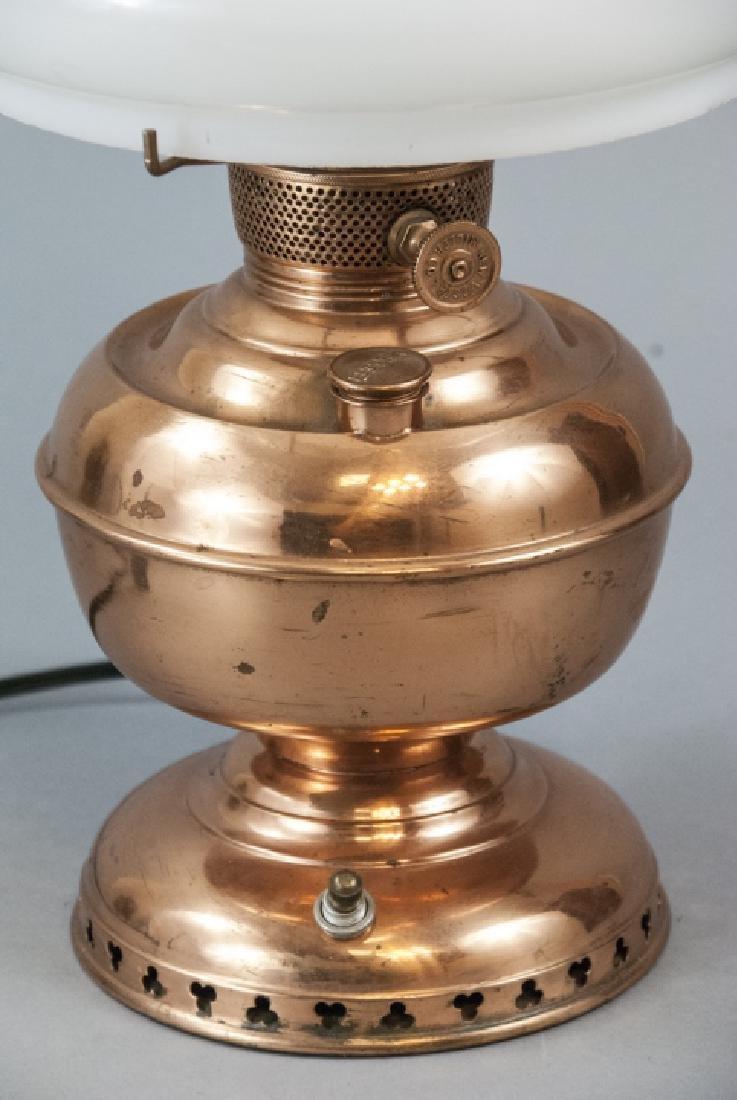 Miller Vestal Copper Converted Oil Lamp - 2