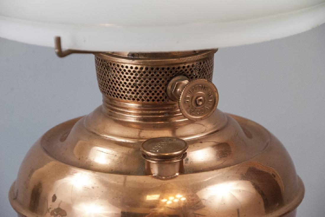 Miller Vestal Copper Converted Oil Lamp - 4