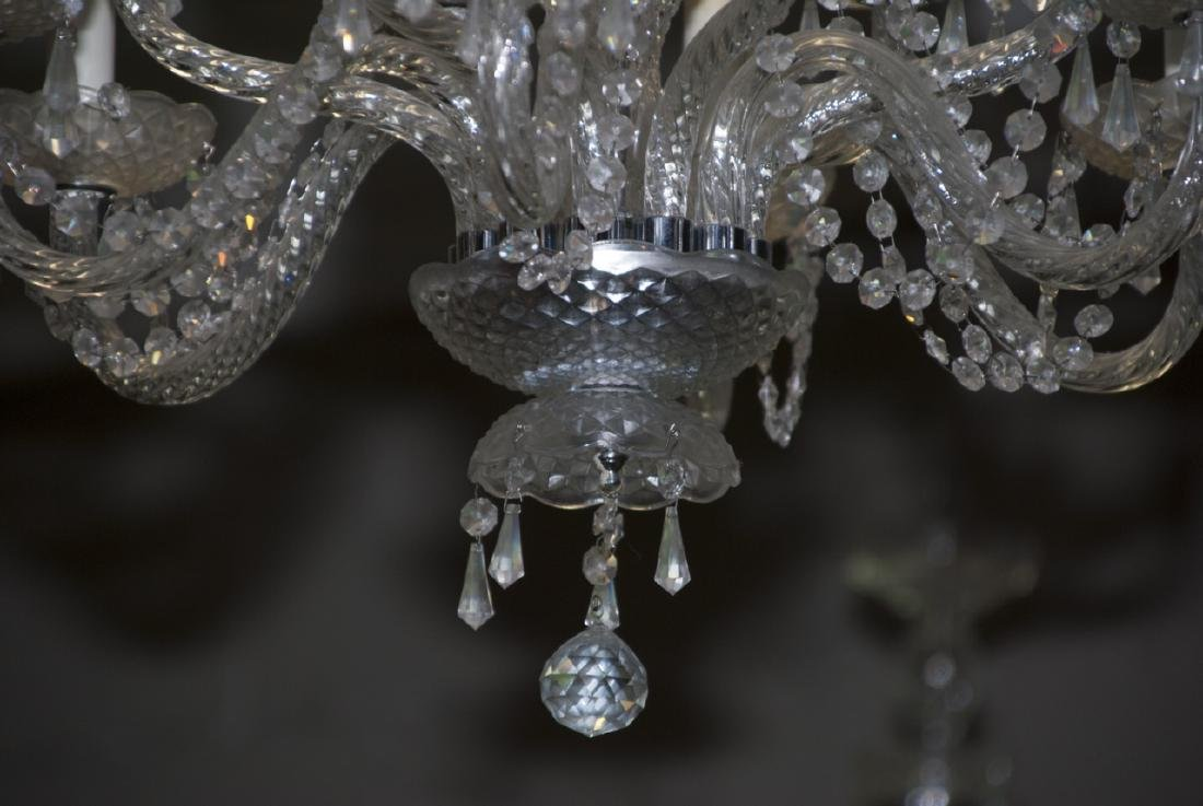 Crystal Chandelier w Two Tiers of Arms - 4