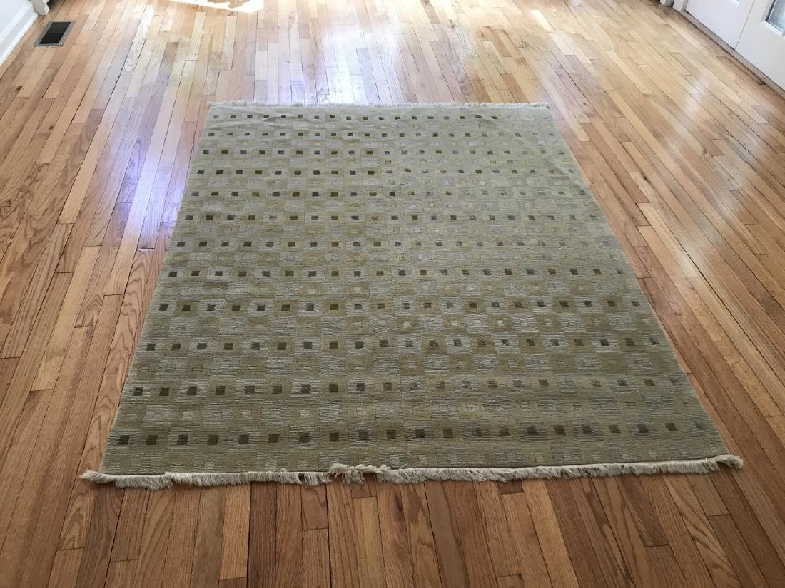 Contemporary Geometric Wool Pile Area Rug / Carpet - 2
