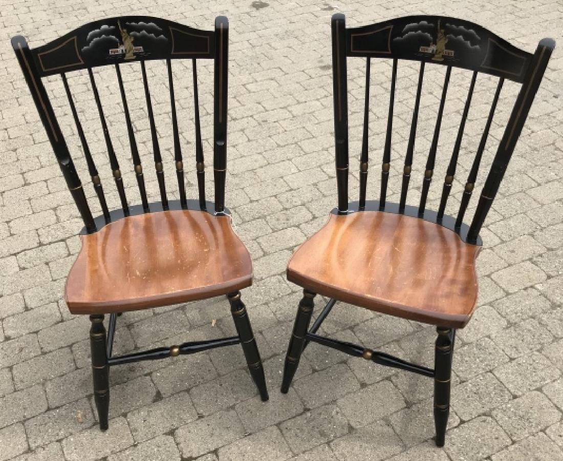 Pair of Hitchcock Chairs w Statue of Liberty Scene