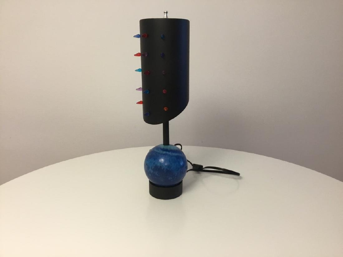 Contemporary Sculptural Bowling Ball Table Lamp - 5