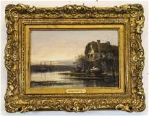 William Pitt Antique English Oil Painting on Board