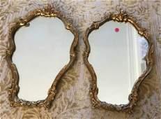 Pair of Italian Florentine Style Gilt Wall Mirrors