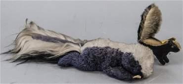 Two Vintage Steiff German Skunk Stuffed Animals