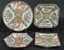 Group of Antique Chinese Rose Medallion Plates