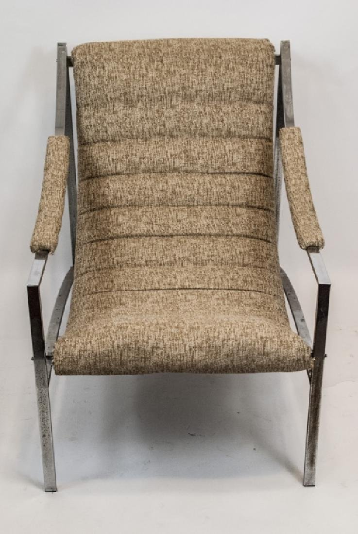 Mid Century Modern Metal & Upholstered Arm Chair - 2