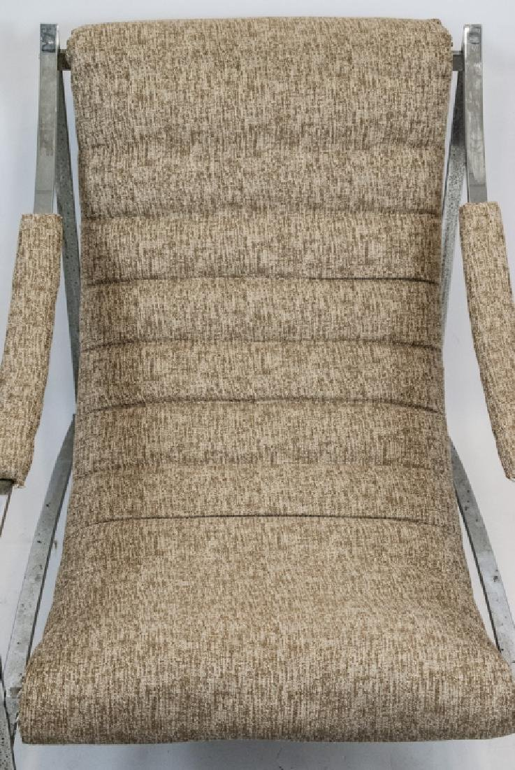 Mid Century Modern Metal & Upholstered Arm Chair - 3