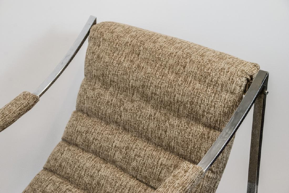 Mid Century Modern Metal & Upholstered Arm Chair - 4