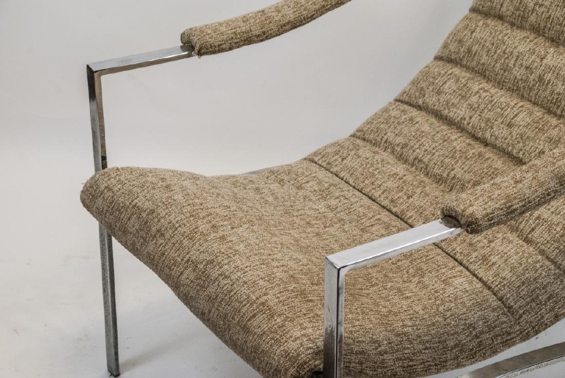 Mid Century Modern Metal & Upholstered Arm Chair - 5