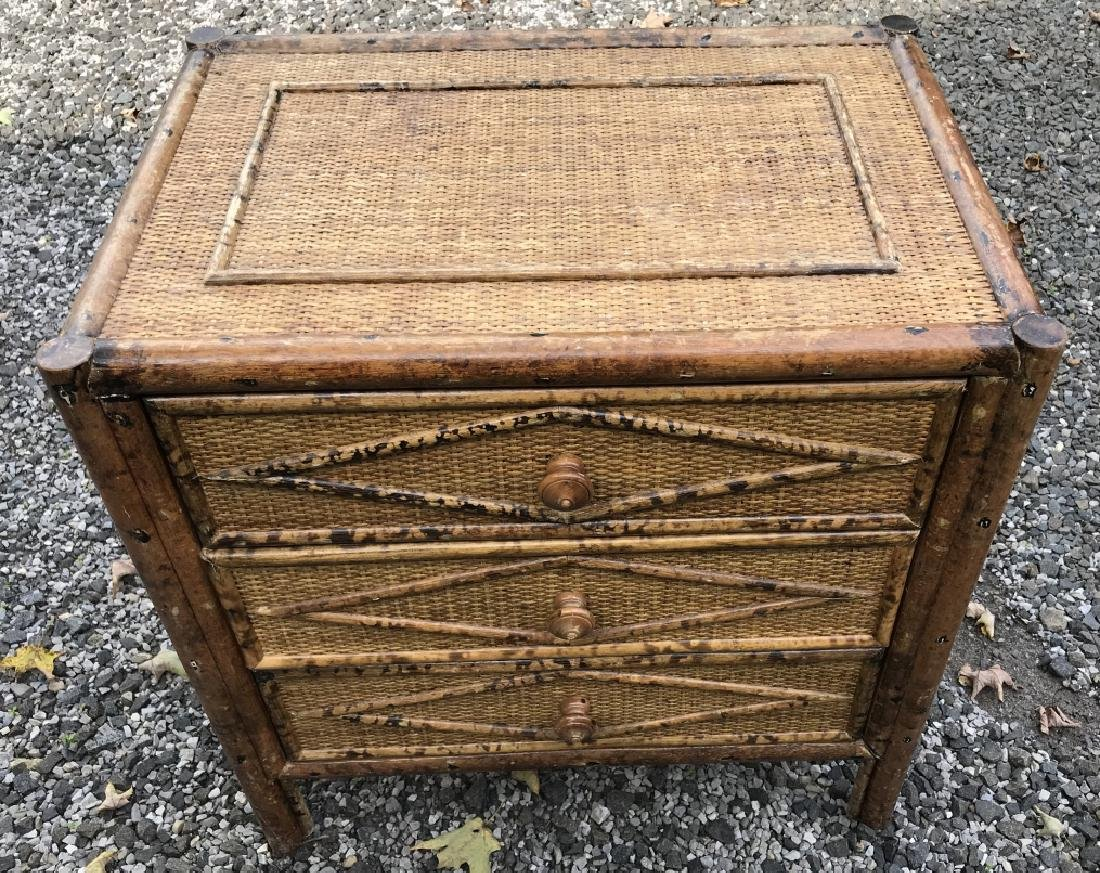 Vintage Woven Rattan Nightstand Or Chest Of Drawer Oct 14 2018 Greenwich Auction In Ct