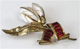 Mid C Sandor Gold Wash Sterling Modernist Pin