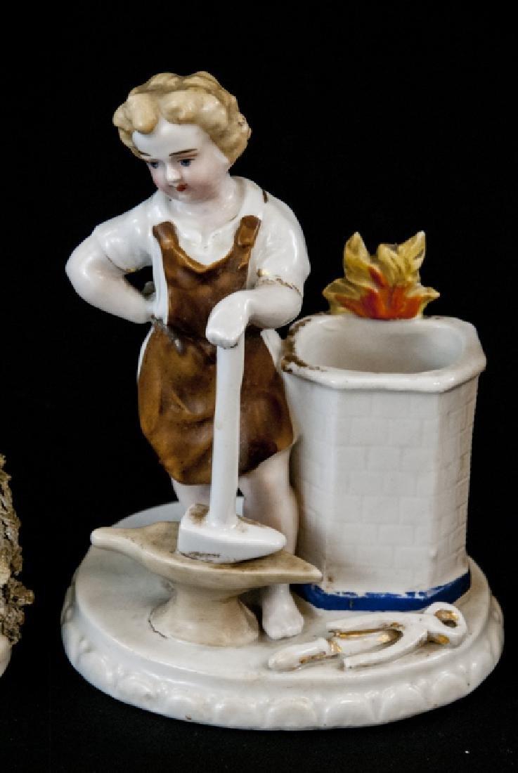 3 Antique 19th C Continental Porcelain Figurines - 3