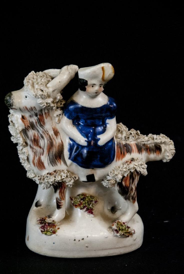 3 Antique 19th C Continental Porcelain Figurines - 4