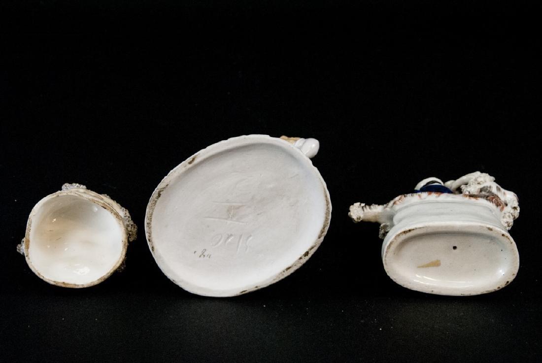 3 Antique 19th C Continental Porcelain Figurines - 6