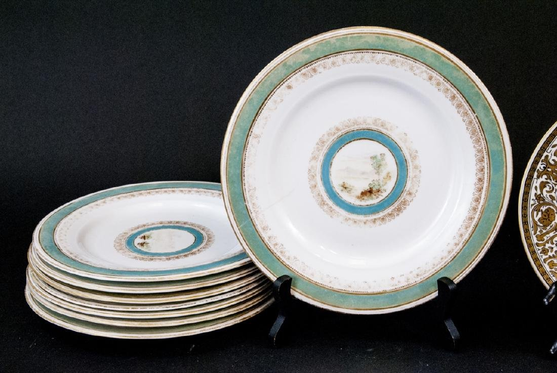 2 Sets of Antique China Porcelain Lunch Plates - 2