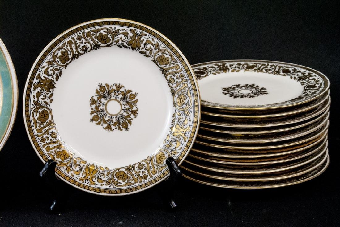2 Sets of Antique China Porcelain Lunch Plates - 3