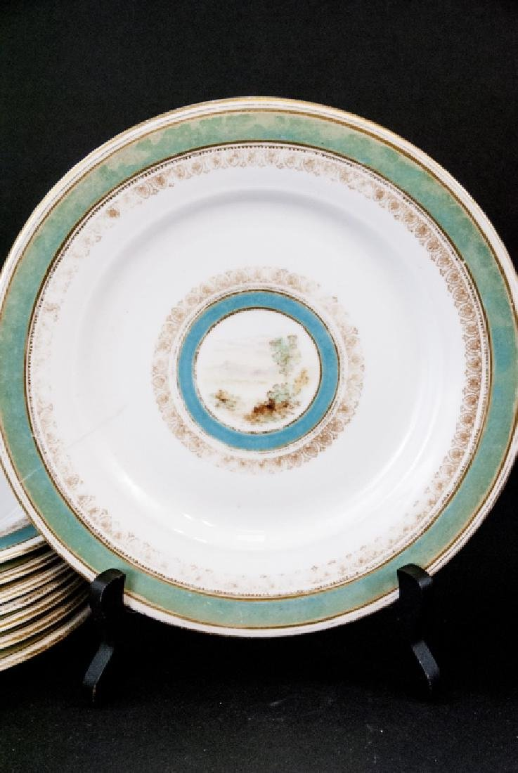 2 Sets of Antique China Porcelain Lunch Plates - 4