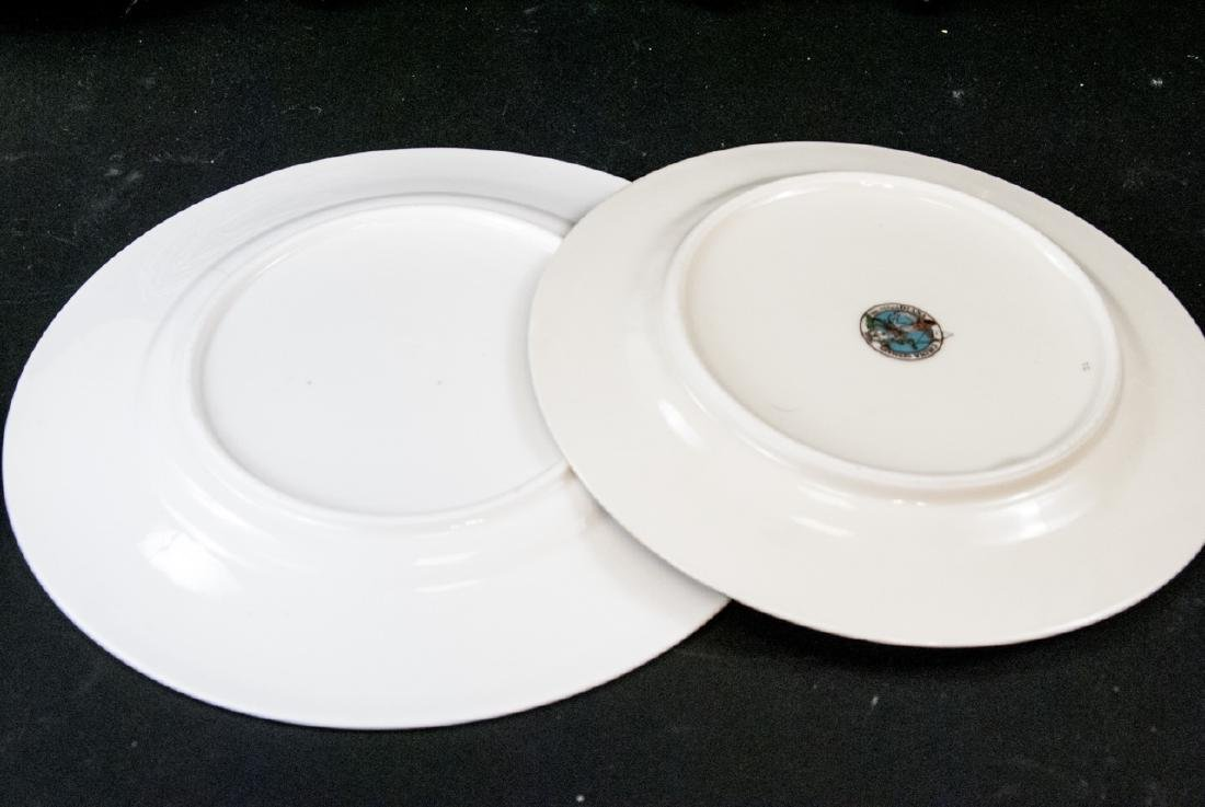 2 Sets of Antique China Porcelain Lunch Plates - 6