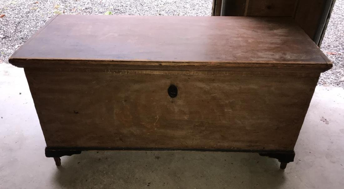 Antique 19th C American Trunk / Blanket Chest