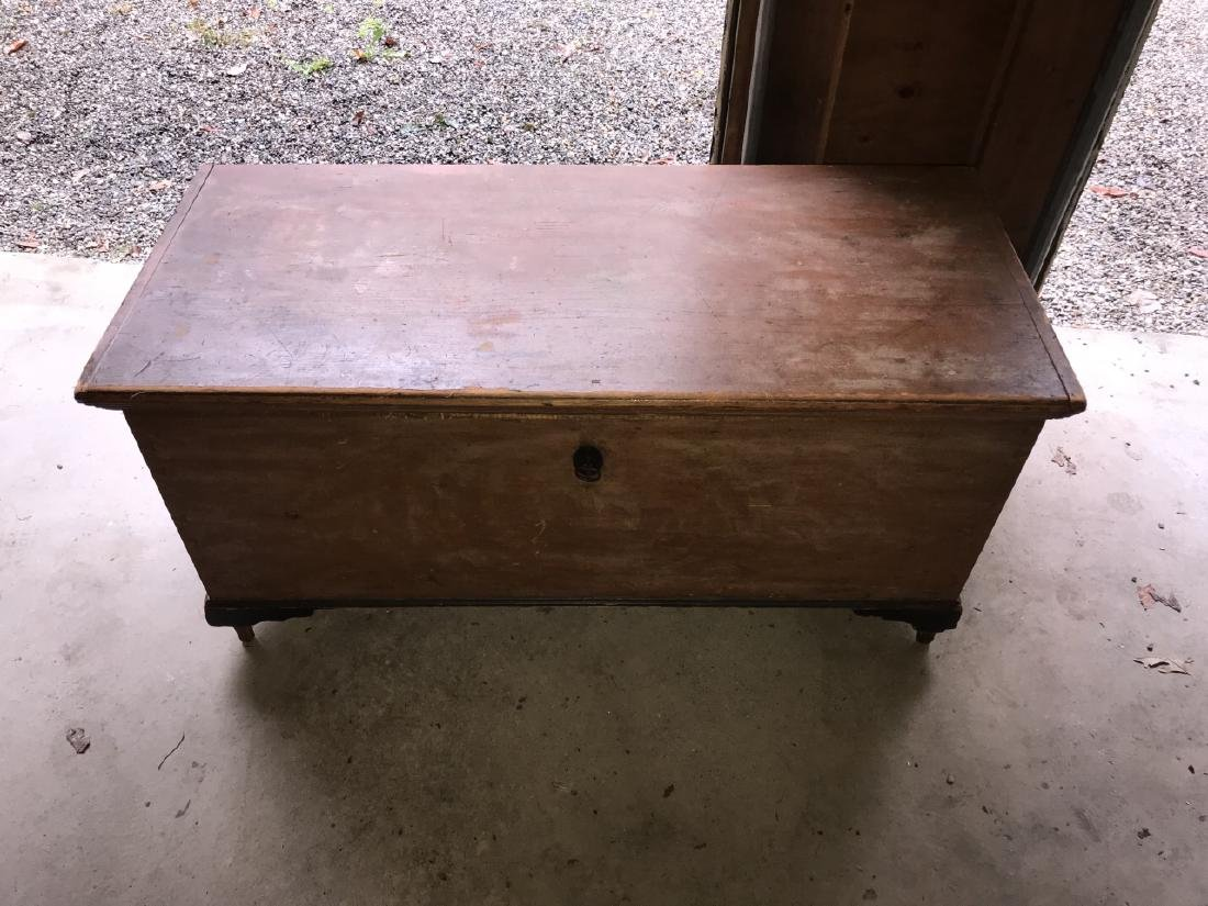 Antique 19th C American Trunk / Blanket Chest - 3