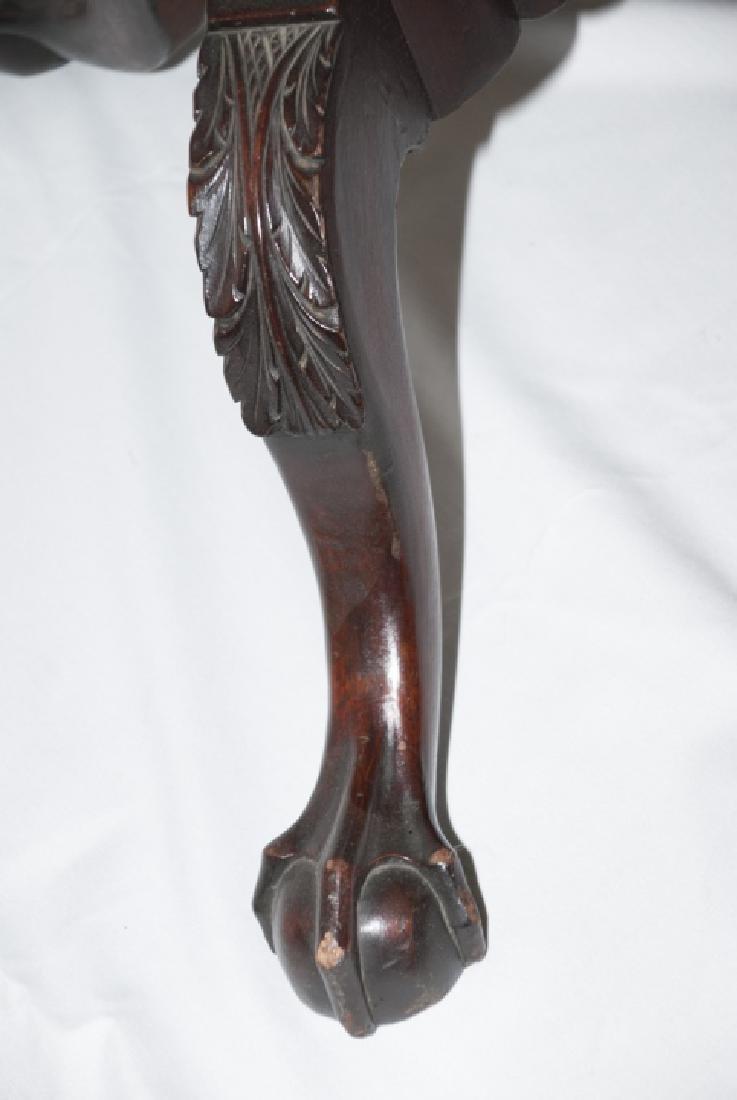 Antique Claw Foot Mahogany Tilt Top Table - 3