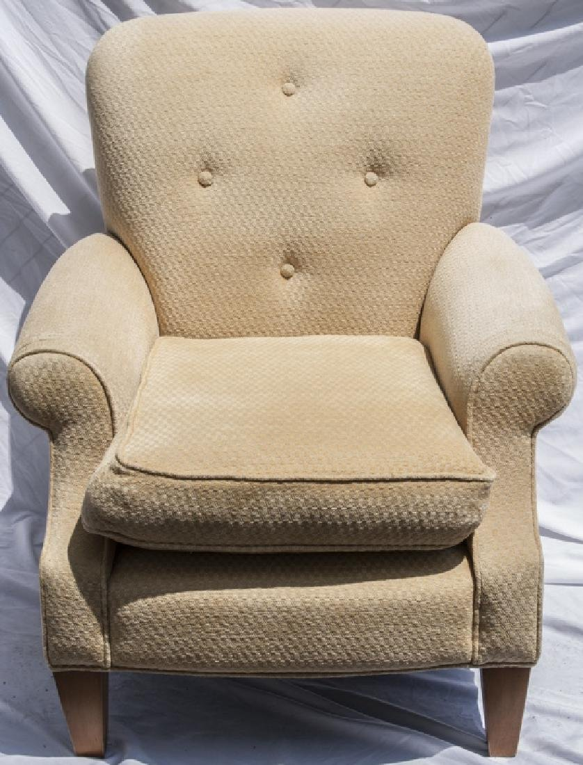 Vintage Yellow Upholstered Arm Chair