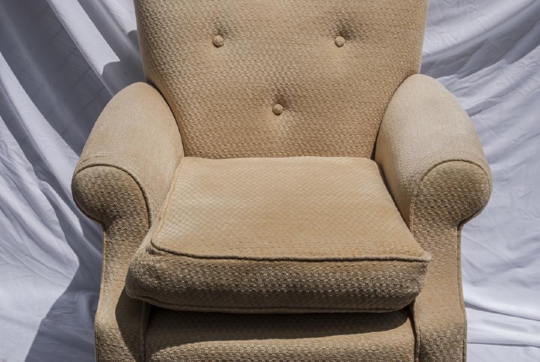 Vintage Yellow Upholstered Arm Chair - 3