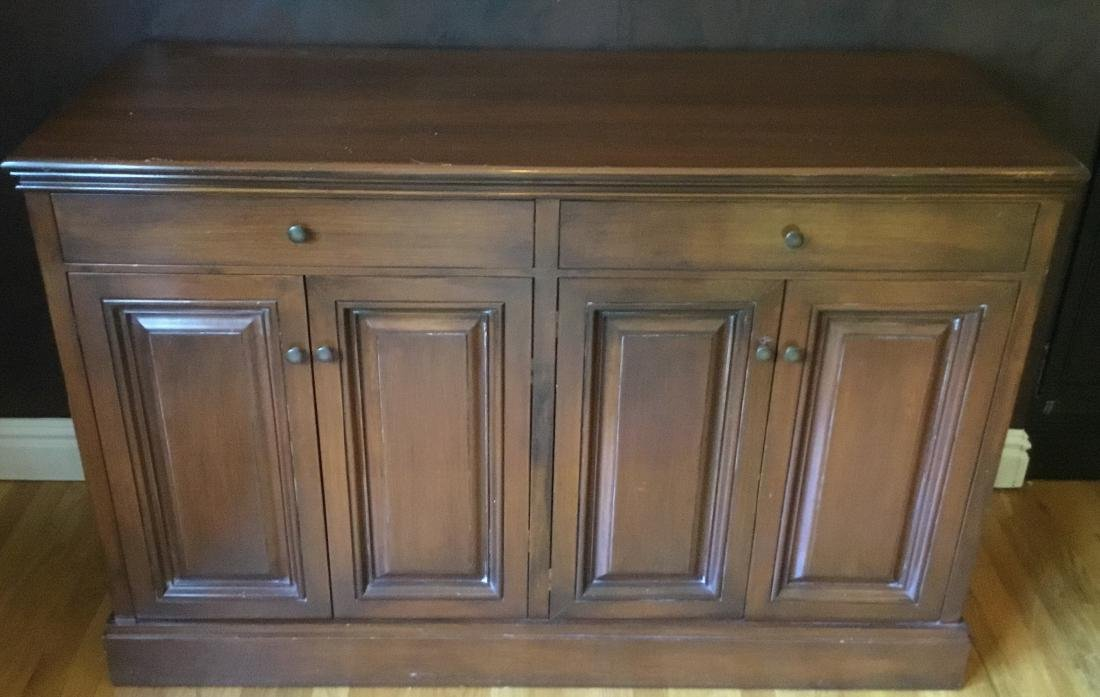 Traditional Style Walnut Credenza / Sideboard