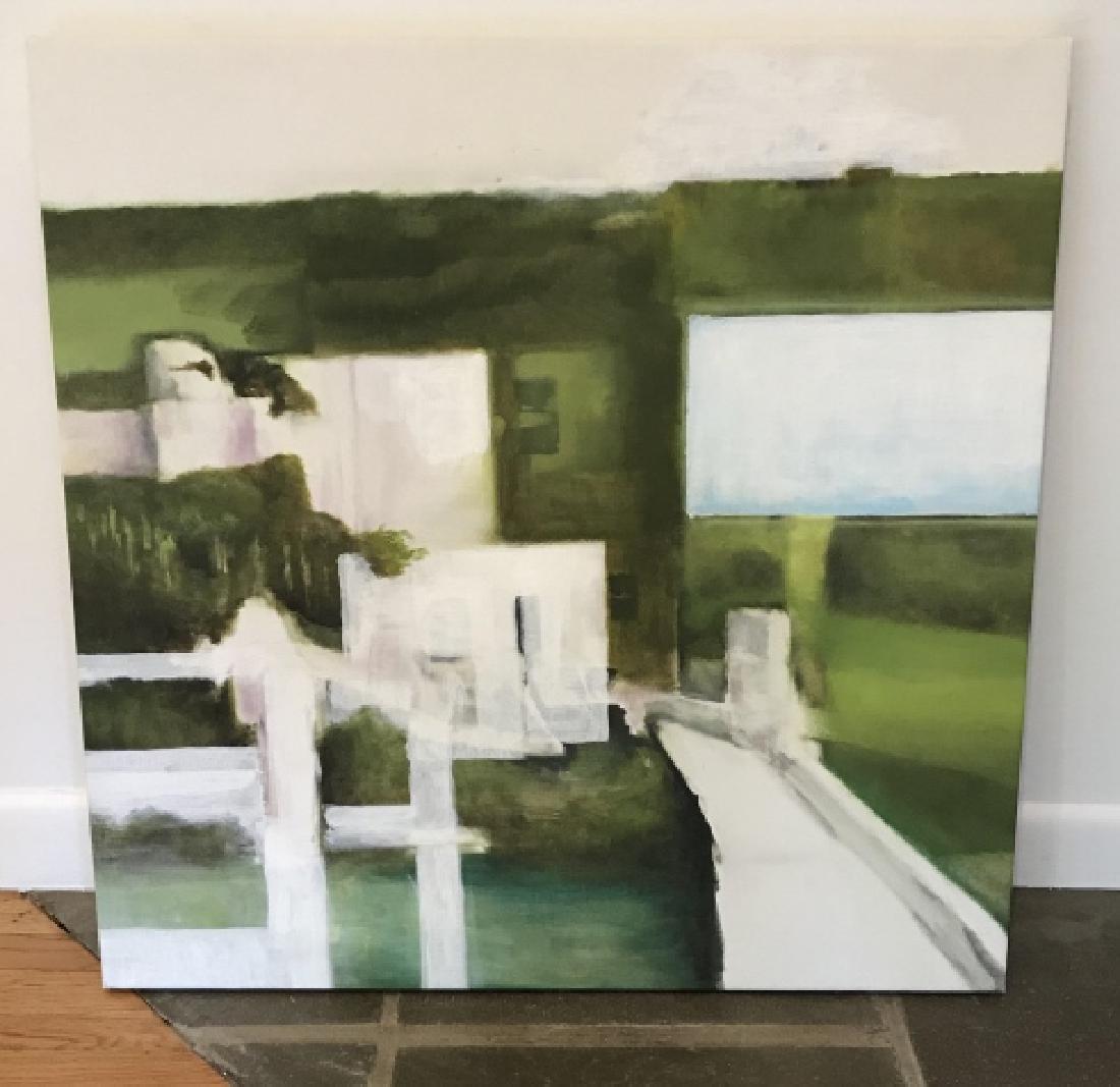 Modernist Landscape Painting Att. Bill Matthews