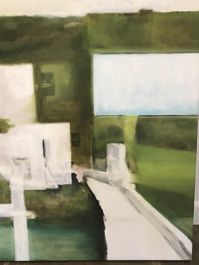 Modernist Landscape Painting Att. Bill Matthews - 2