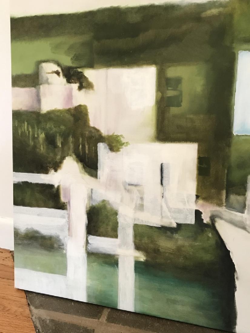 Modernist Landscape Painting Att. Bill Matthews - 3