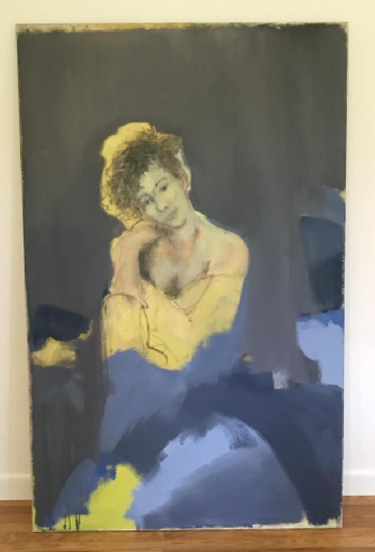 Modernist Portrait Painting Att.  Bill Matthews