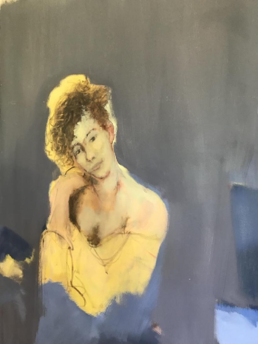 Modernist Portrait Painting Att.  Bill Matthews - 6