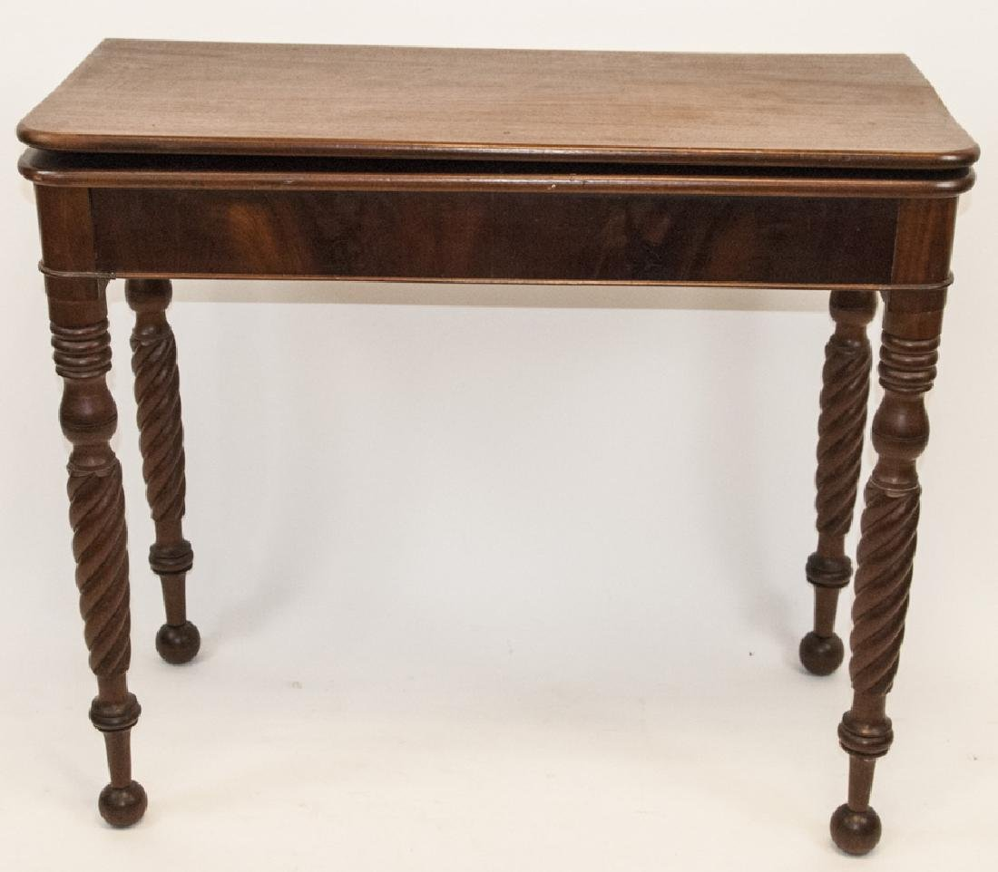 Hollywood Regency Style Mahogany Drop Leaf Table