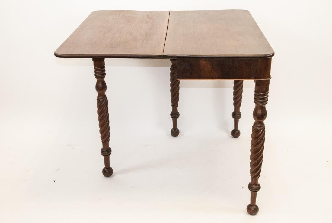 Hollywood Regency Style Mahogany Drop Leaf Table - 4