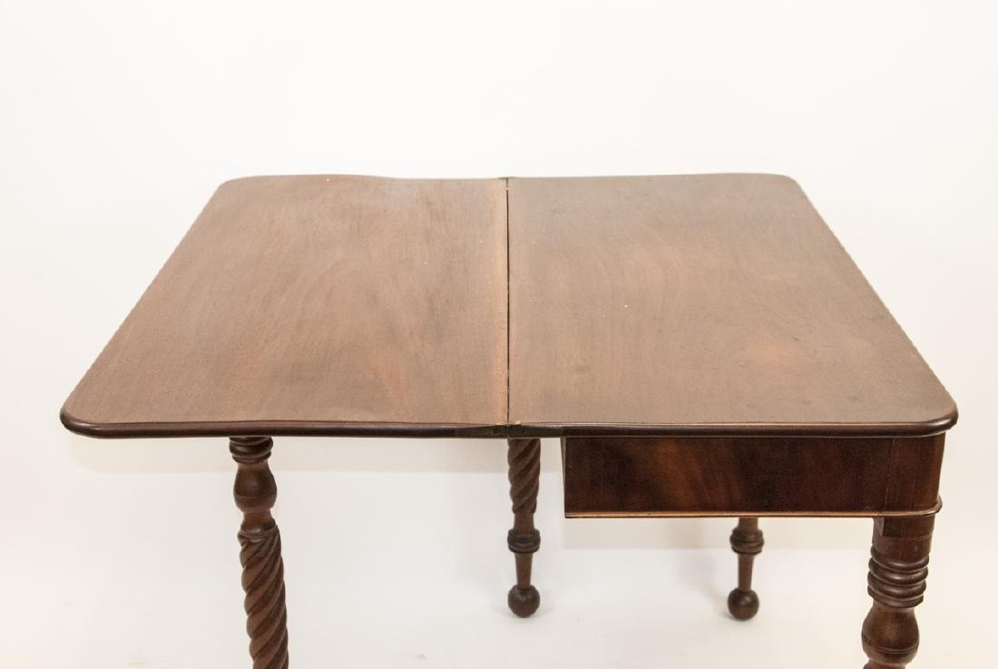 Hollywood Regency Style Mahogany Drop Leaf Table - 5